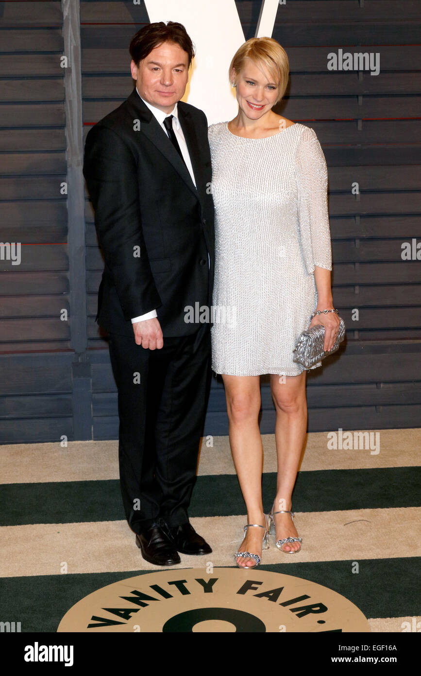 Actor Mike Myers And His Wife Kelly Tisdale Attend The Vanity Fair Stock  Photo: 79006210   Alamy