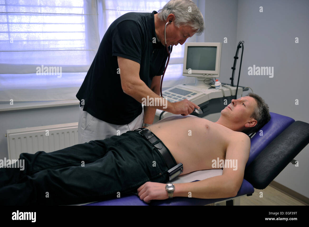 Even a family practice of a general practitioner may be a useful specialization. This GP is a big city of a major - Stock Image