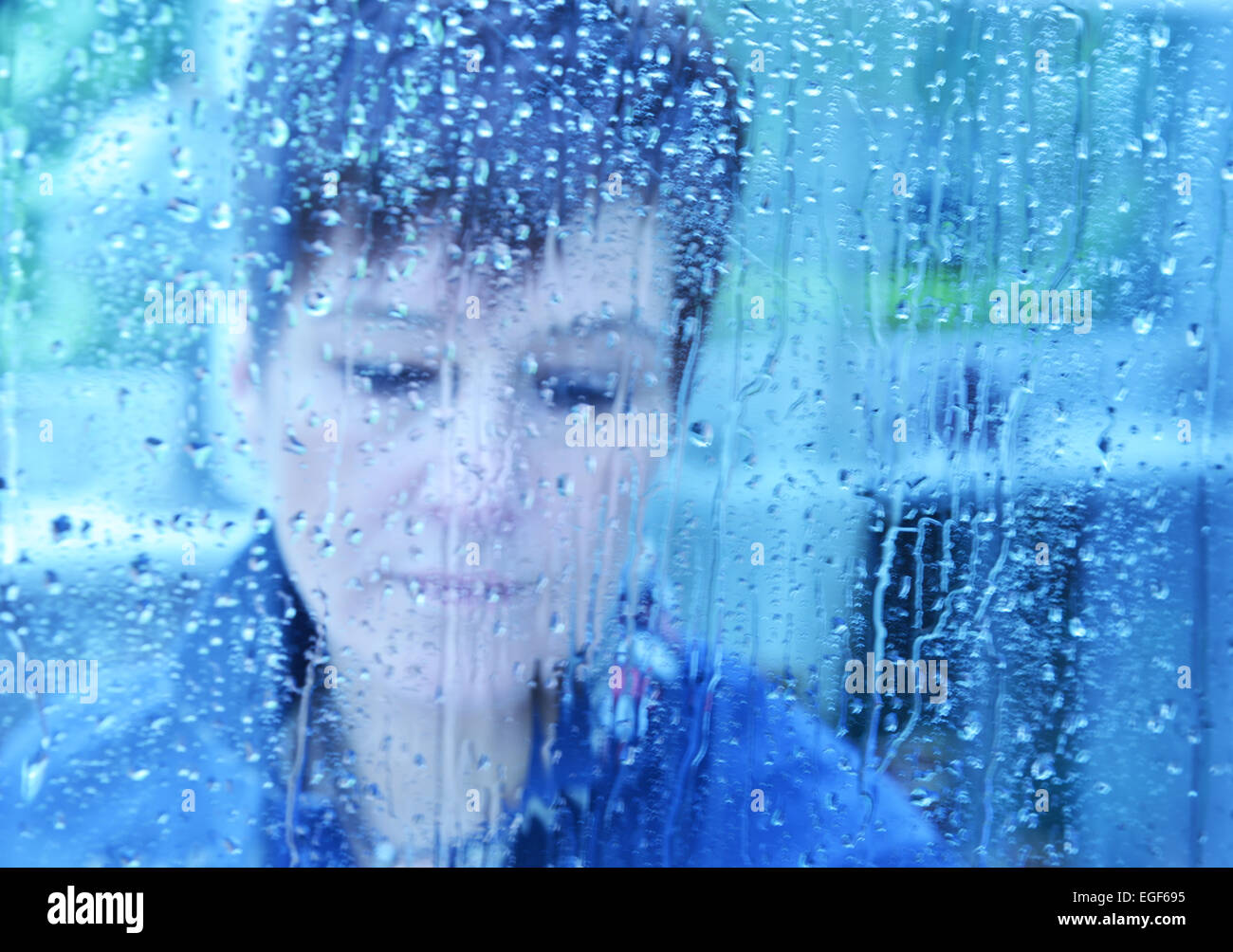 This photo is for med findings of patients in areas such as psychology (depression, stress, sadness, schizophrenia, - Stock Image
