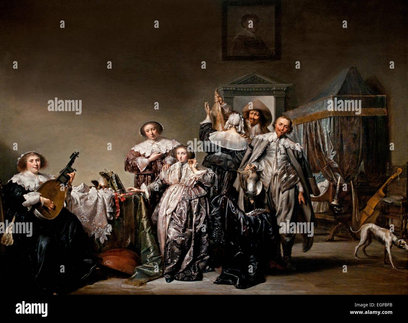 Gallant Company 1633 Pieter Codde 1599-1678  Dutch Netherlands - Stock Image