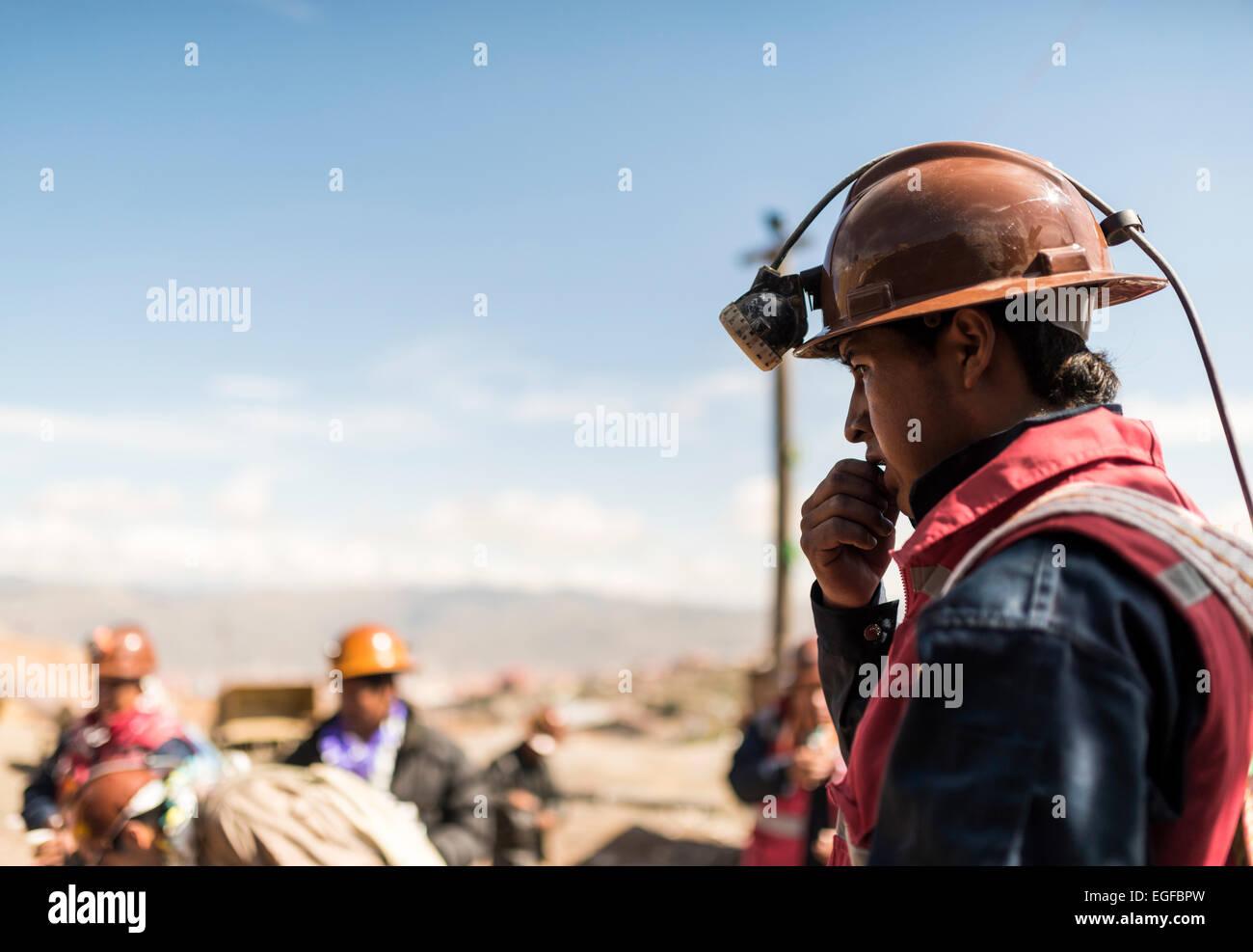 The Miners Carnival, Cerro Rico, Potosi, Southern Altiplano, Bolivia - Stock Image