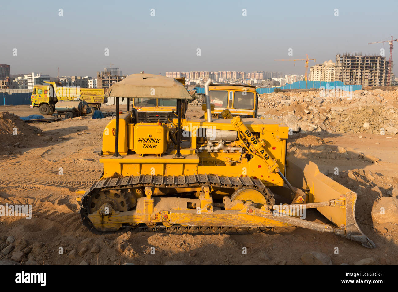 BD-80 Crawler Dozer from Bharat Earth Movers Limited - Stock Image