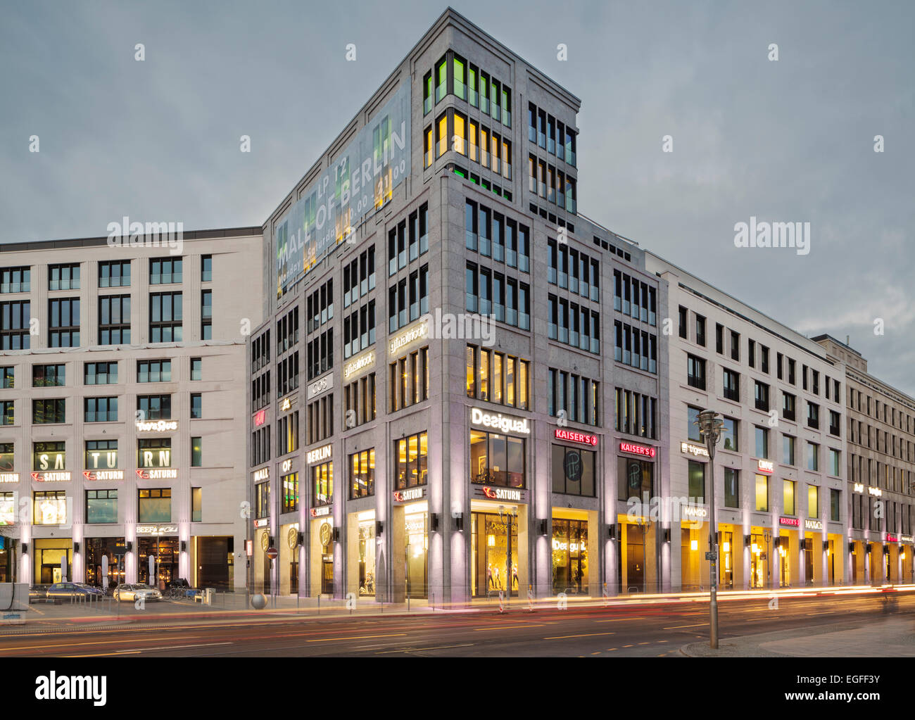 Mall of Berlin, Leipziger Platz, Berlin, Germany Stock Photo