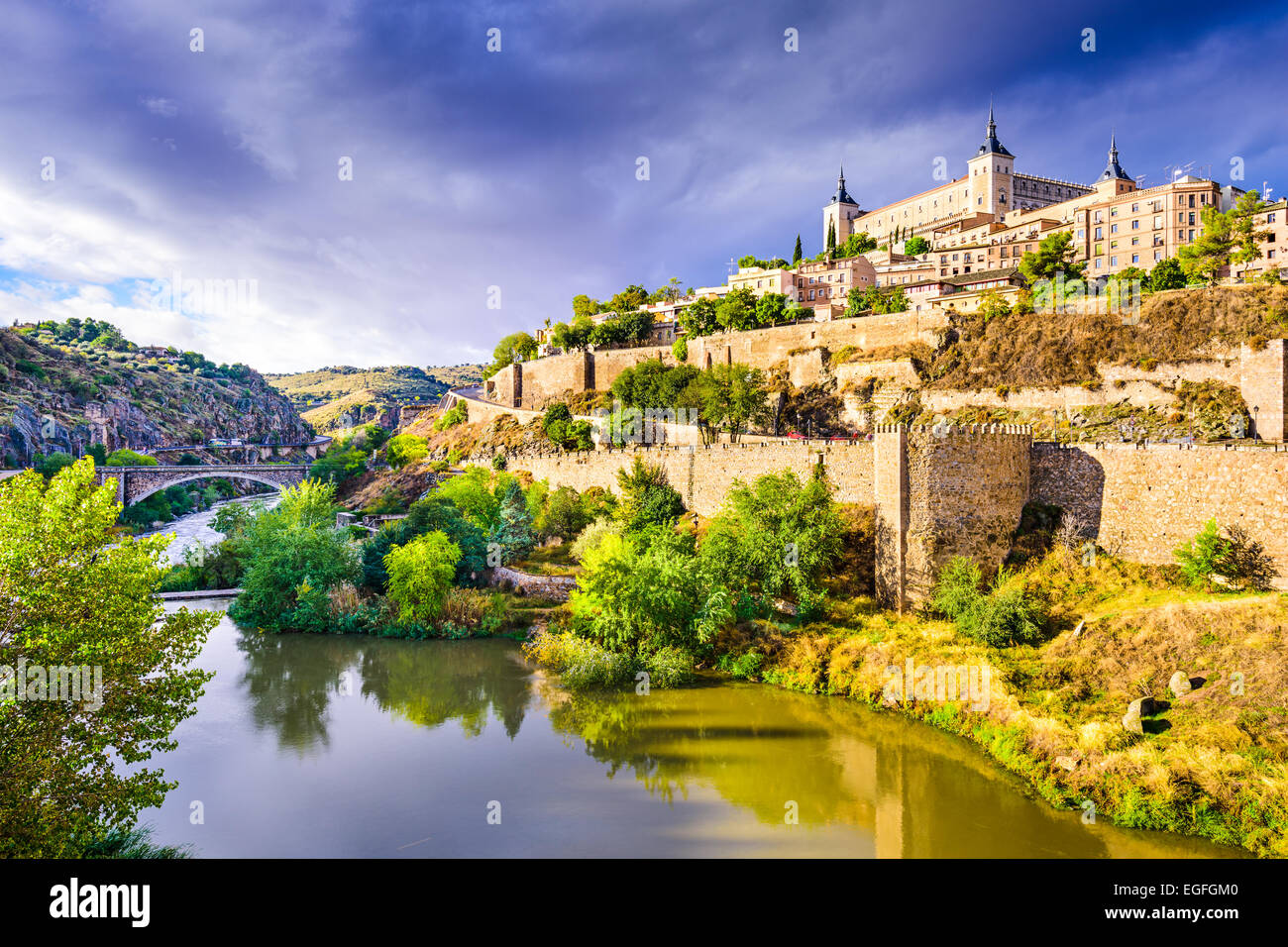 Toledo, Spain old town skyline. - Stock Image