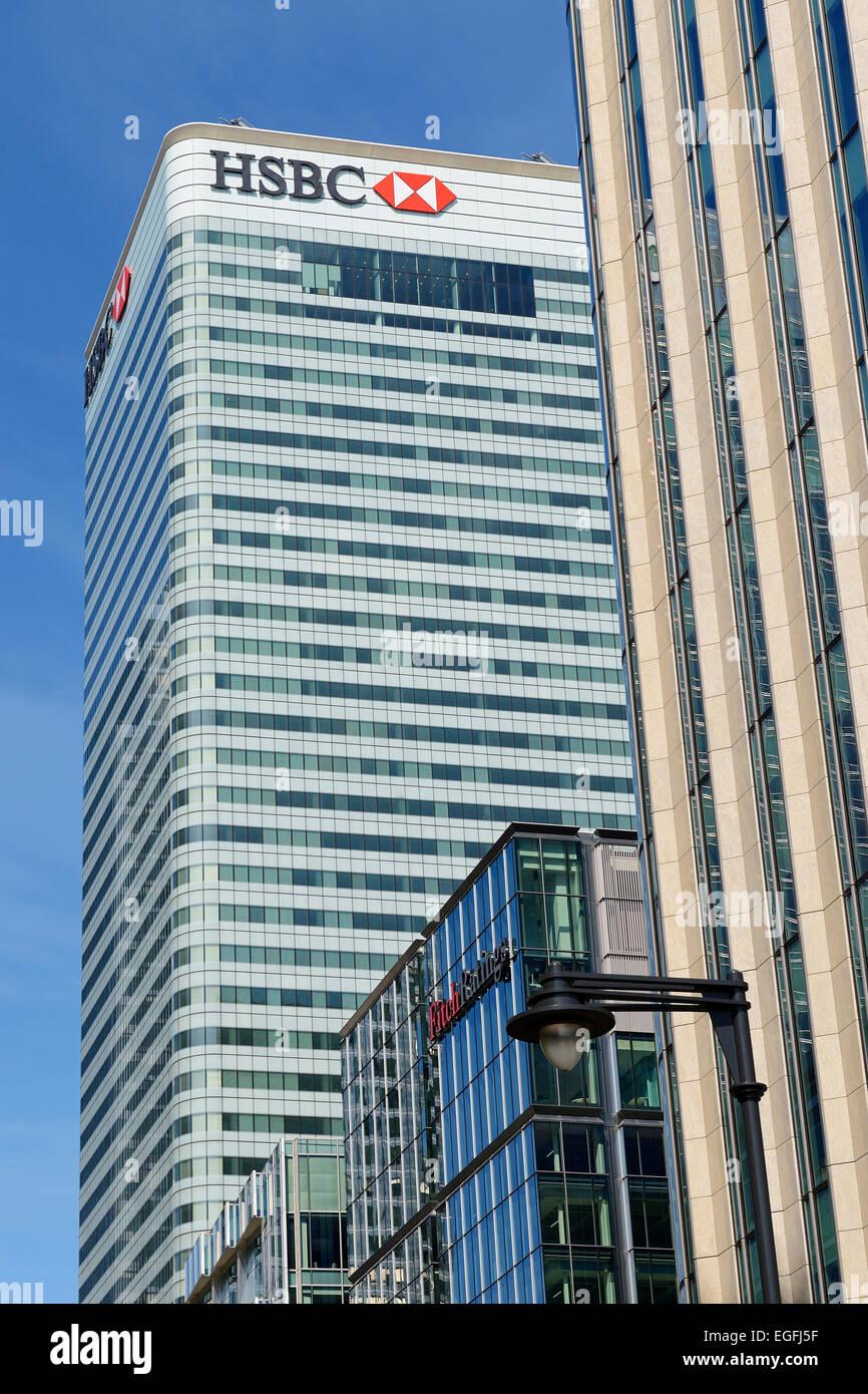 HSBC Bank Headquarters, Canary Wharf, London, UK Stock Photo