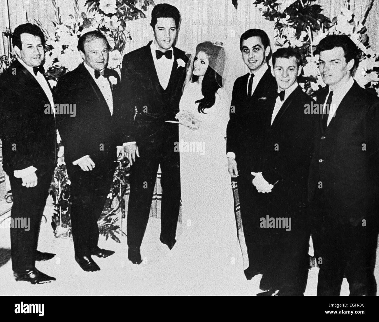 LAS VEGAS, NV - NOVEMBER 10 – Elvis and Priscilla Presley Wedding at the Aladdin Hotel, Las Vegas, Nevada, on November - Stock Image