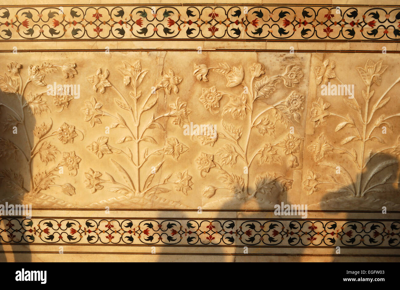 close up of carvings on marble at taj mahal agra india Stock Photo ...