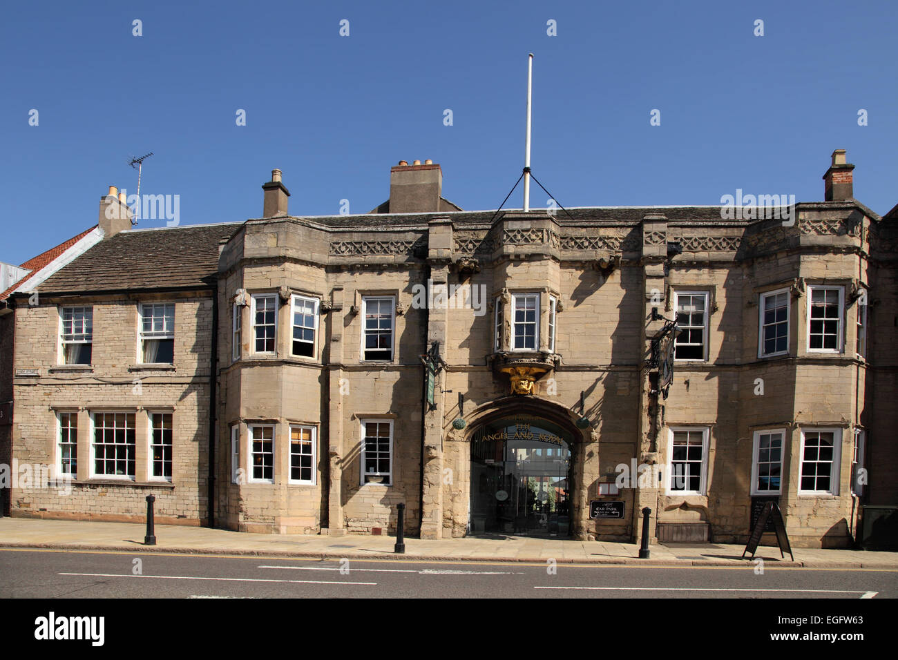 The Angel and Royal Hotel, Grantham, Lincolnshire - Stock Image