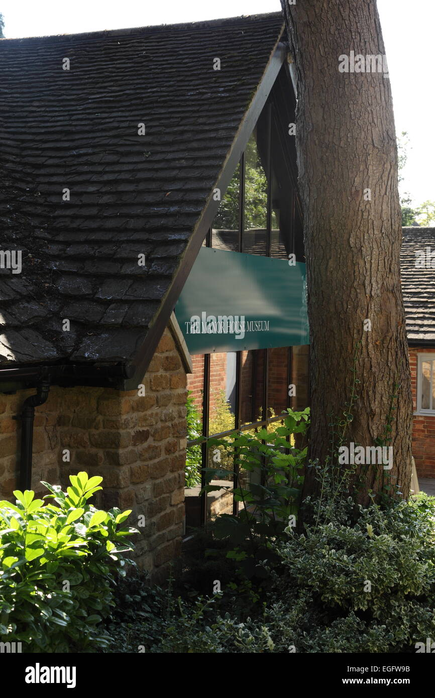 The Manor House Museum, Kettering, Northamptonshire - Stock Image