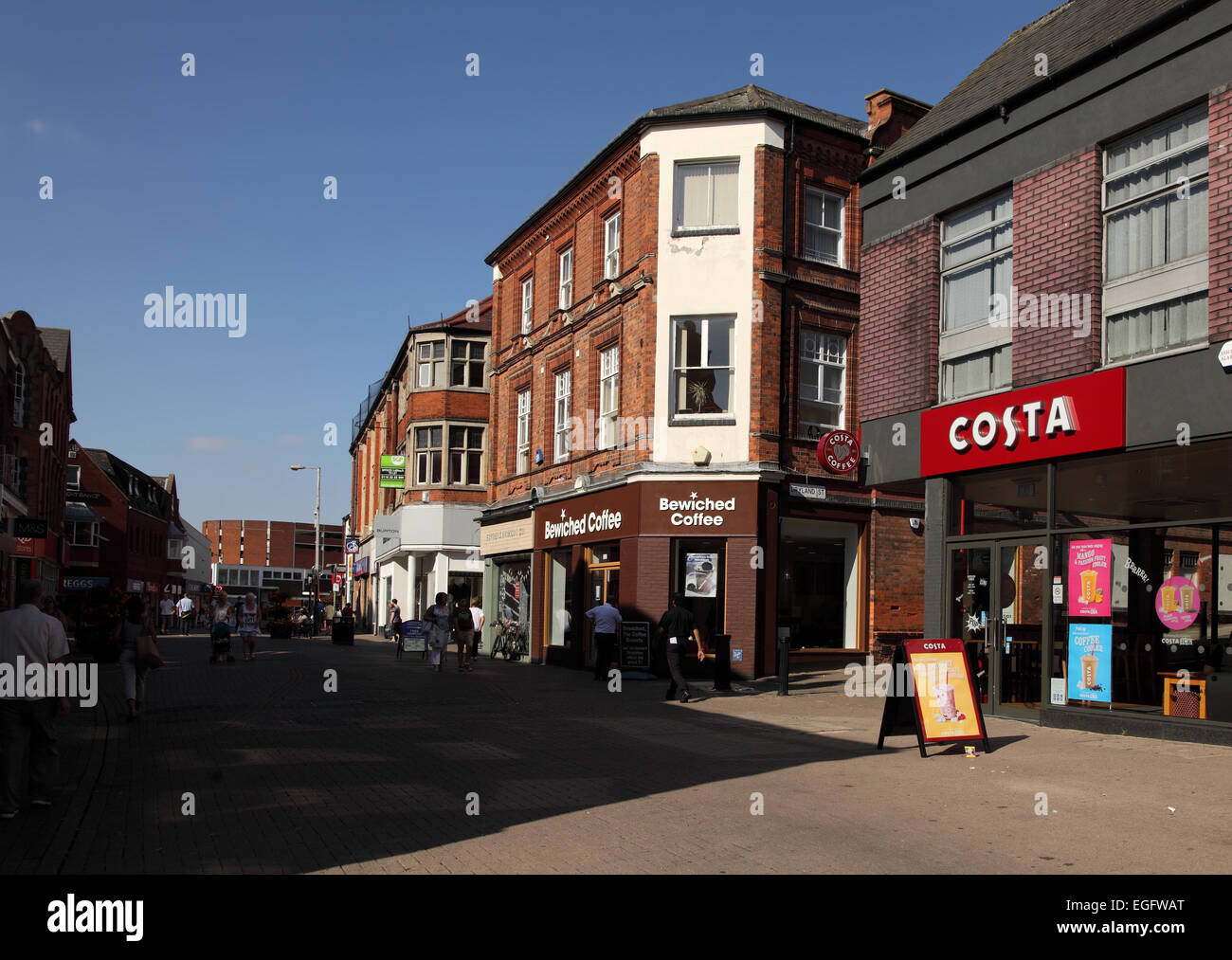 The High Street, Kettering, Northants - Stock Image