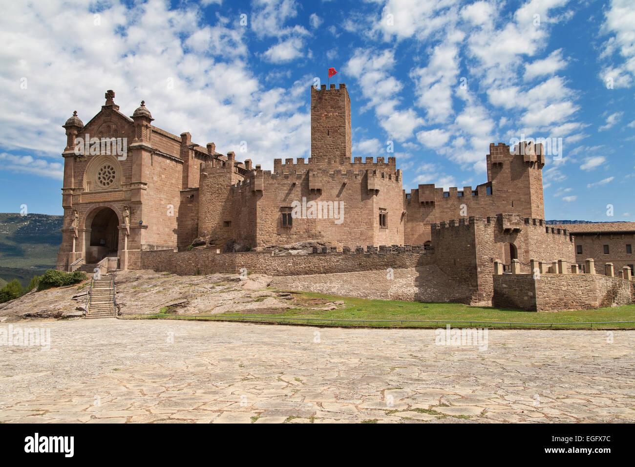 Javier Castle in Navarre, Spain. Stock Photo