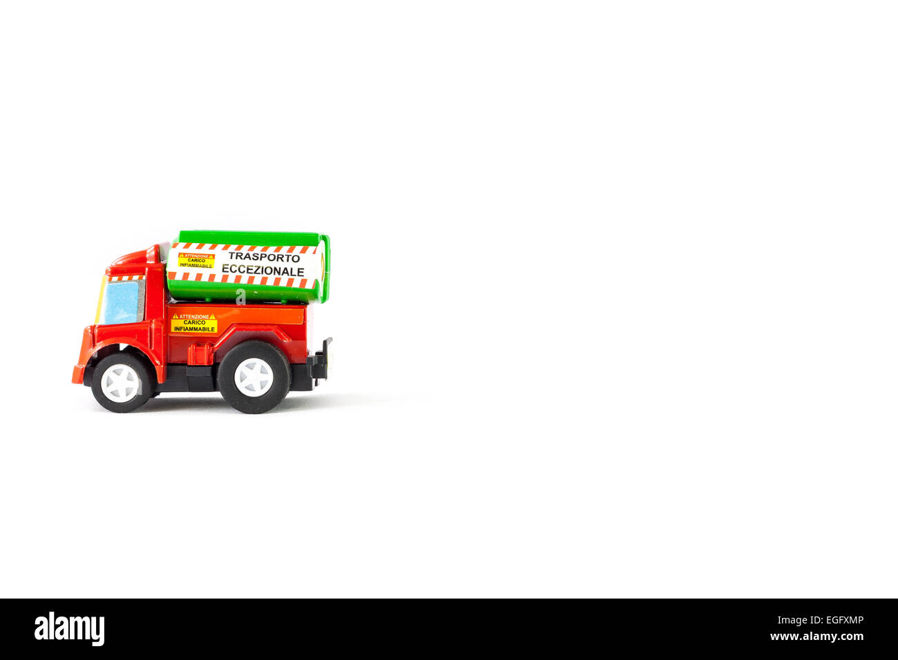 Load flammable toys. Abnormal load. - Stock Image