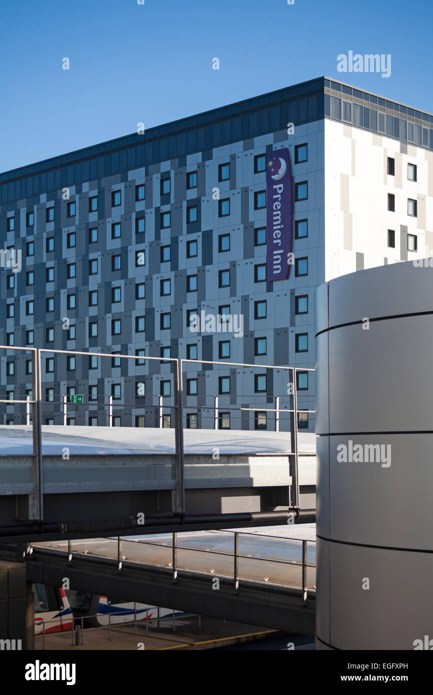 Premier Inn hotel at London Gatwick Airport North Terminal, West Sussex - Stock Image