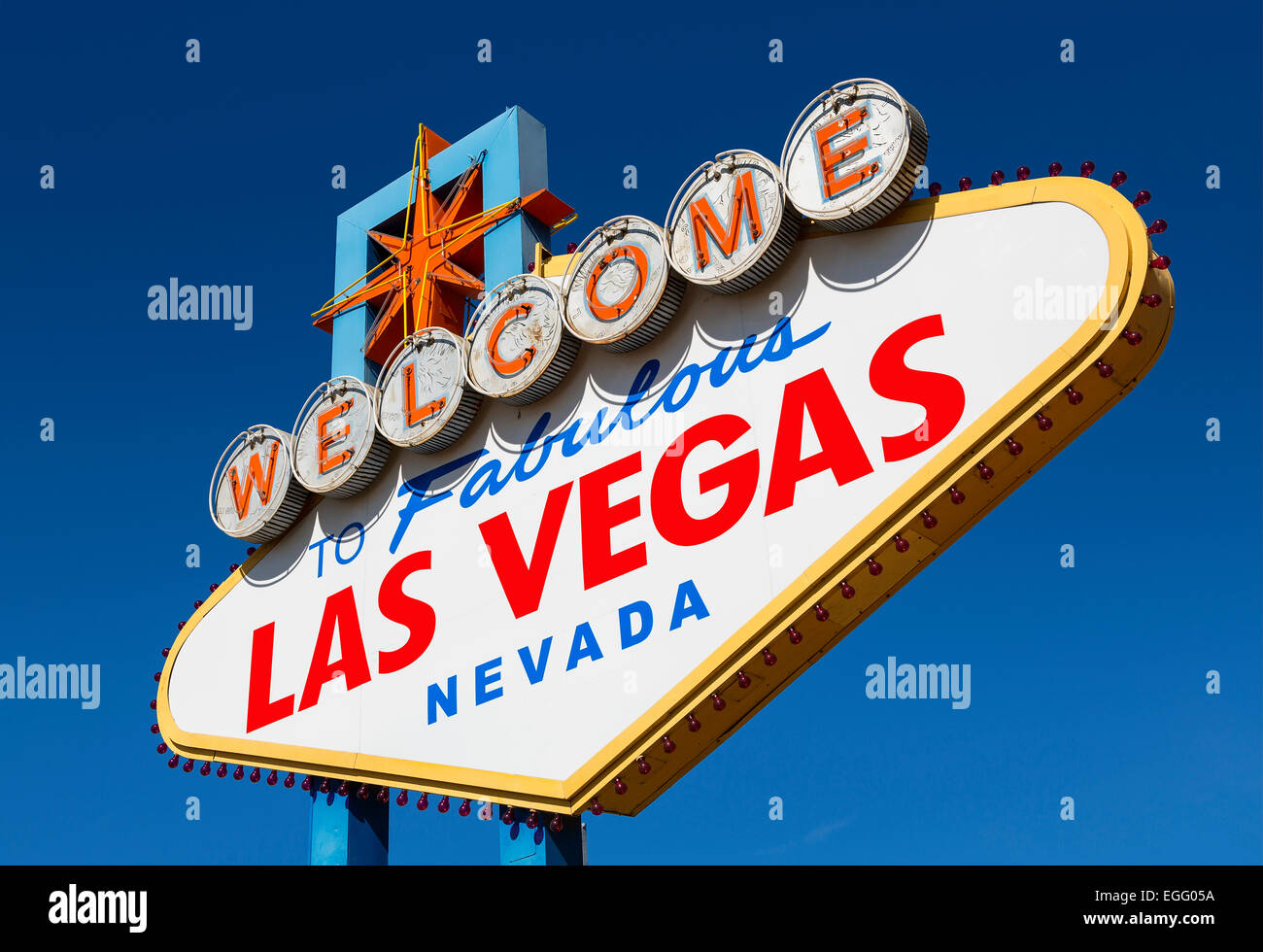 Welcome Sign to Las Vegas - Stock Image