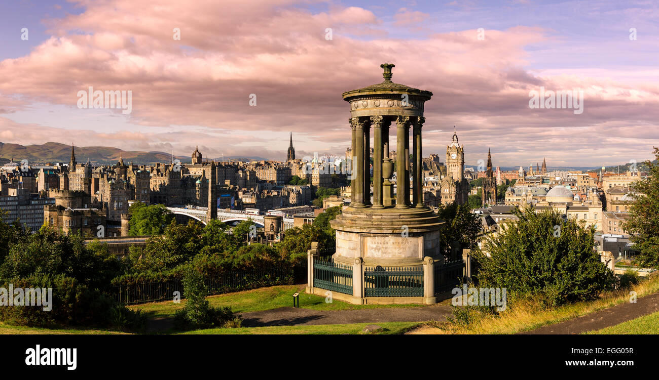 Edinburgh from Calton Hill - Stock Image