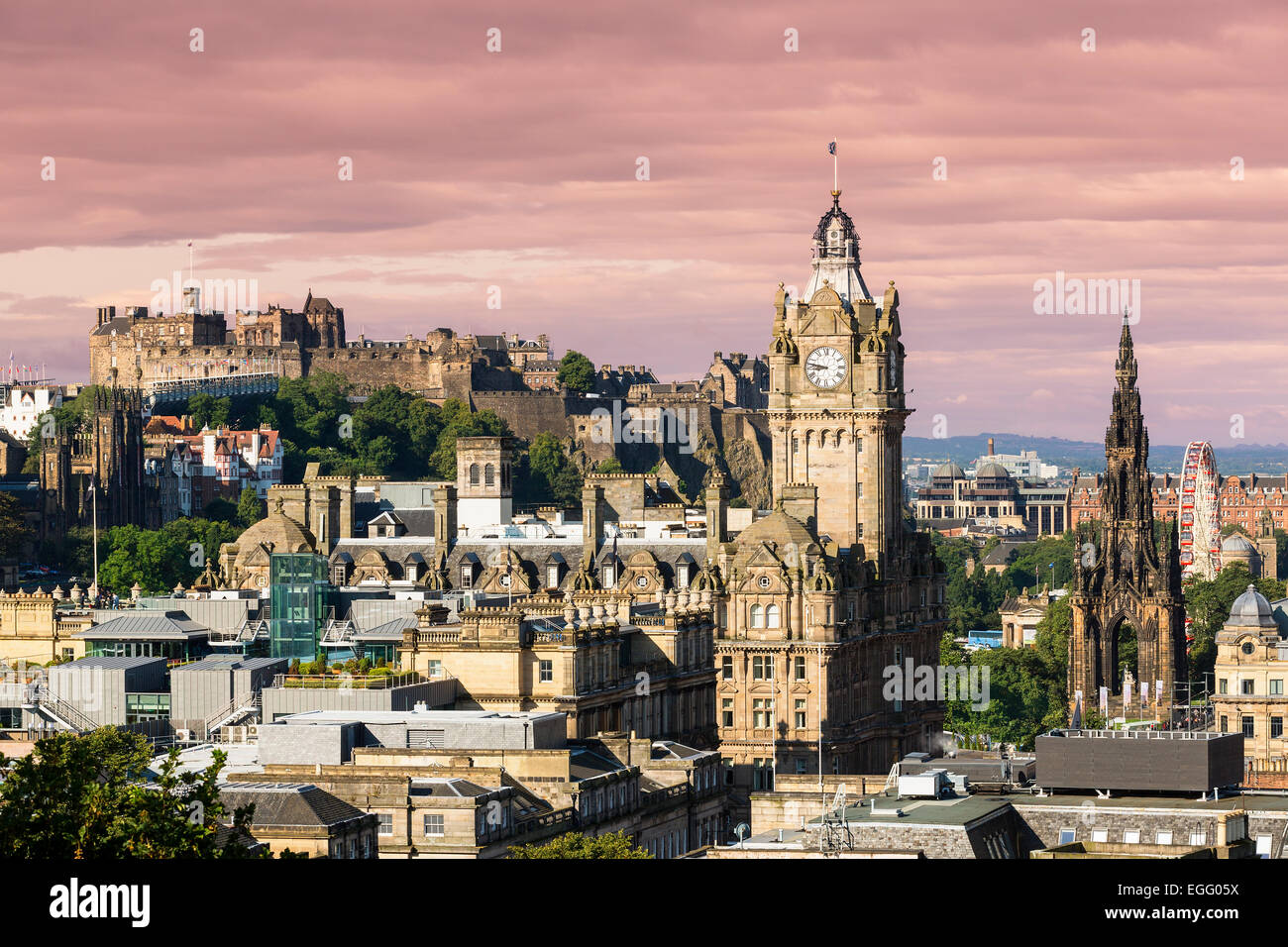 Edinburgh Cityscape, Scotland - Stock Image
