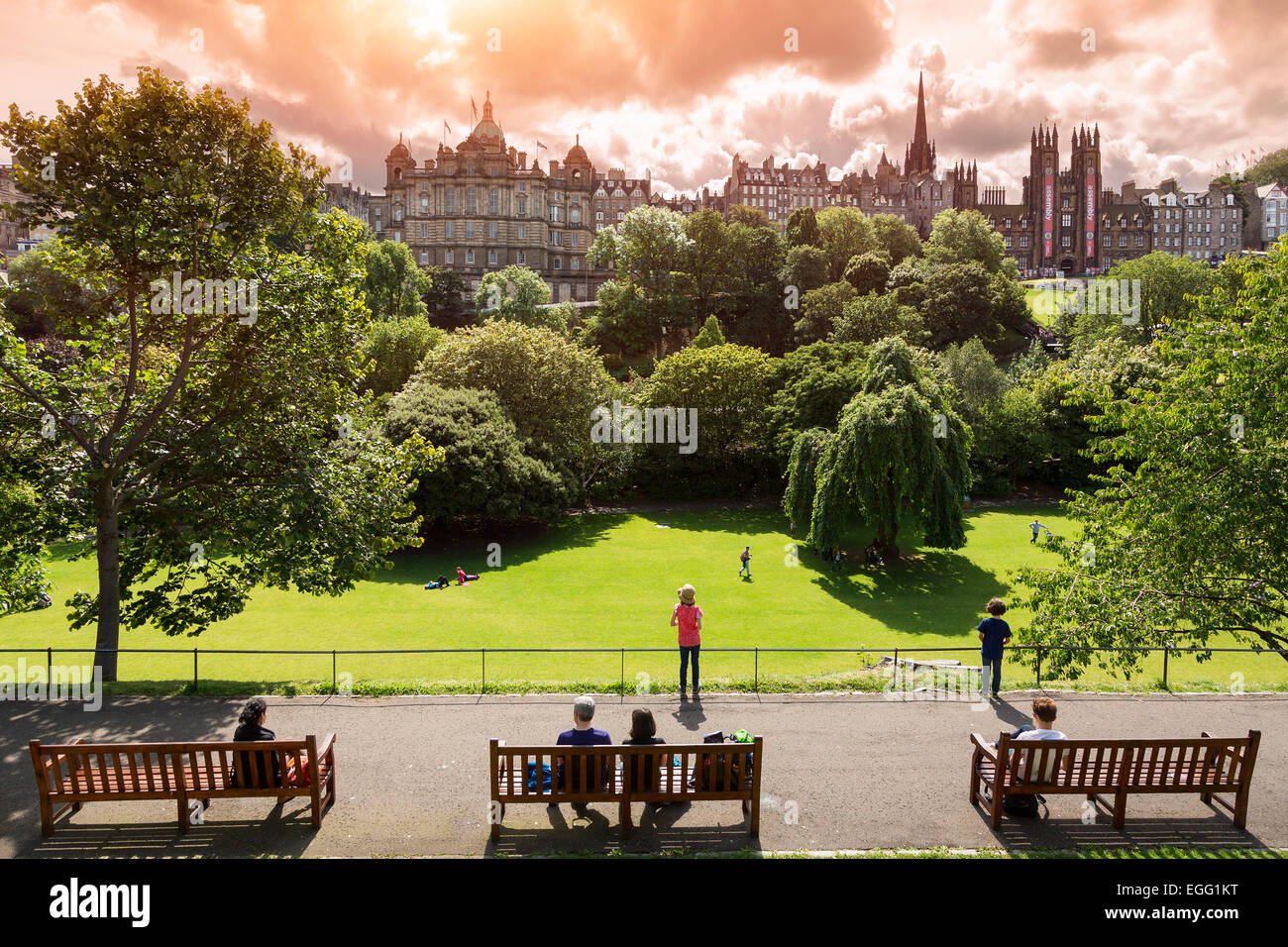 Princes Street Gardens, Edinburgh. - Stock Image