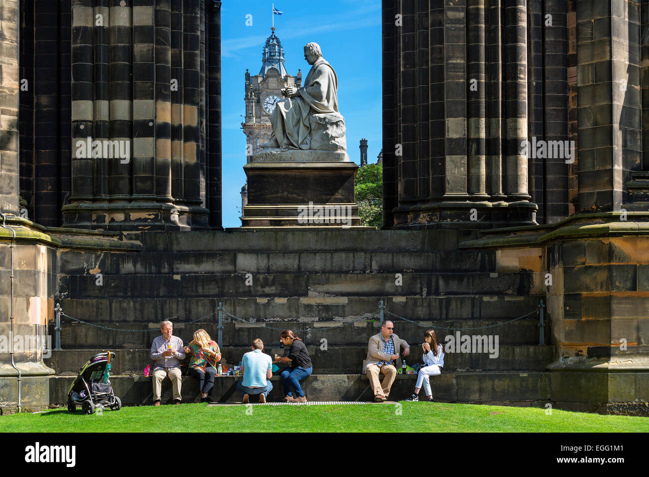Scotland, Edinburgh, Walter Scott Monument in Scotland - Stock Image