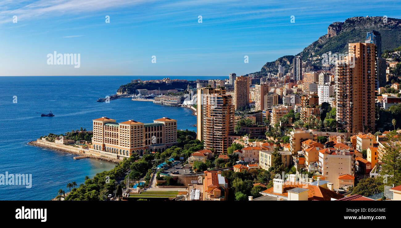 Skyline of Monaco - Stock Image