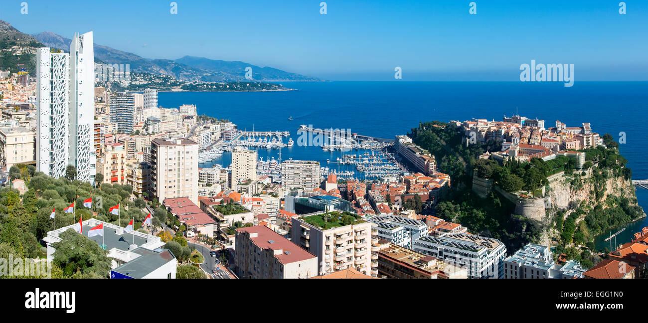 Monaco Skyline - Stock Image
