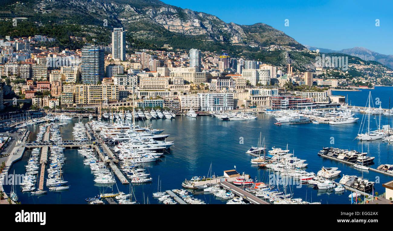 Monaco Harbour - Stock Image