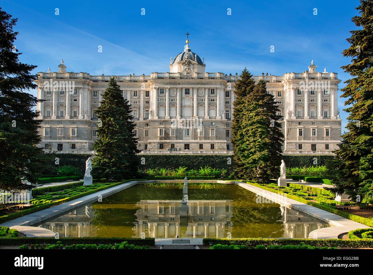 Madrid, Royal Palace (Palacio real) - Stock Image