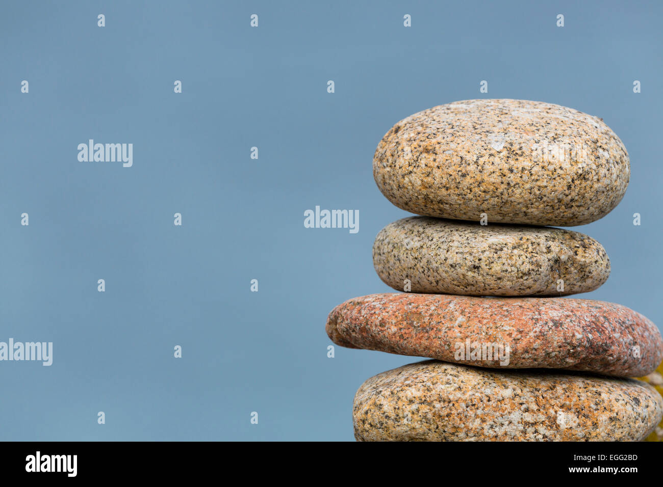 Pile Granite Pebbles Isles of Scilly; UK - Stock Image
