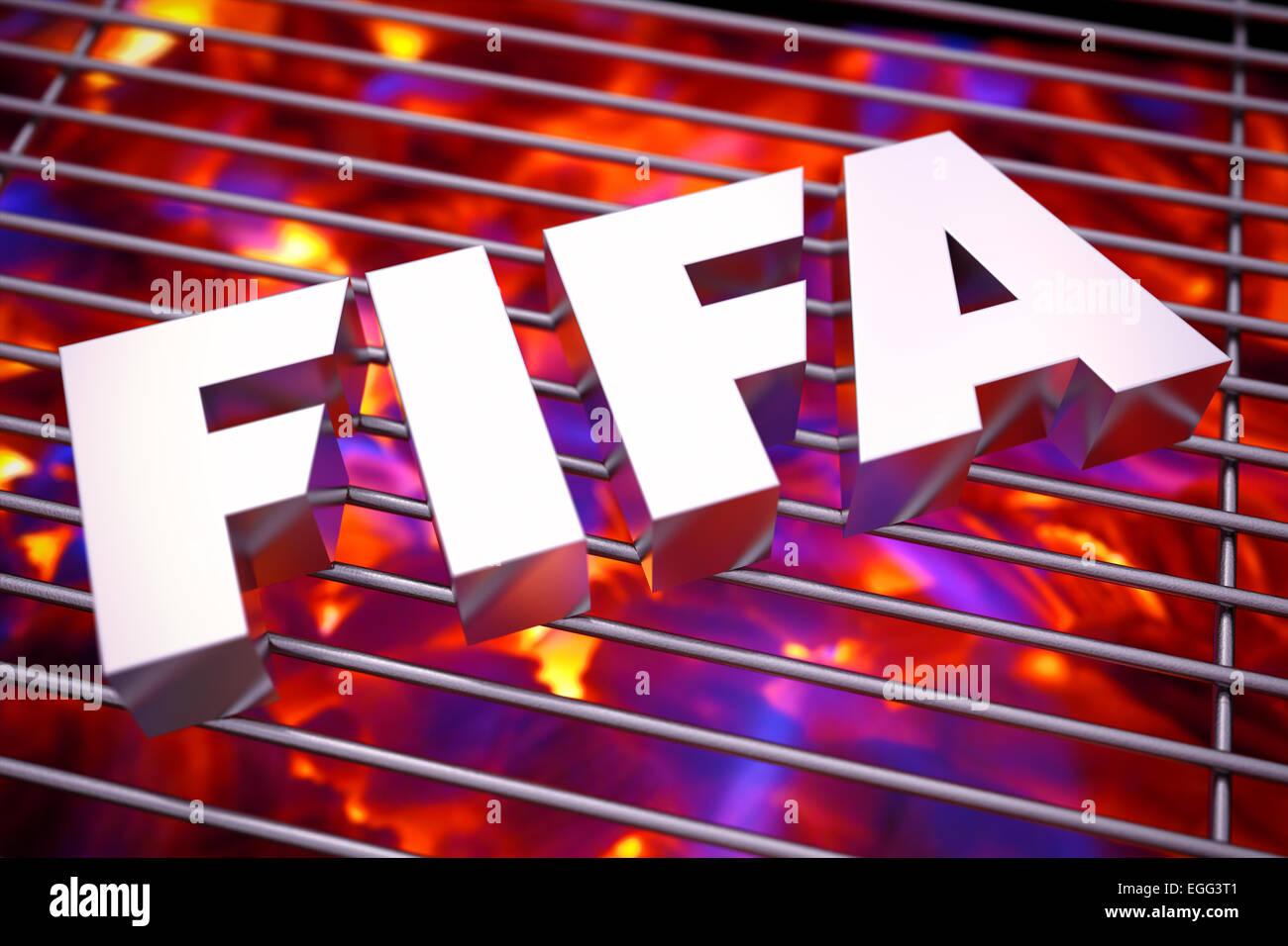 FIFA feeling the heat - Stock Image