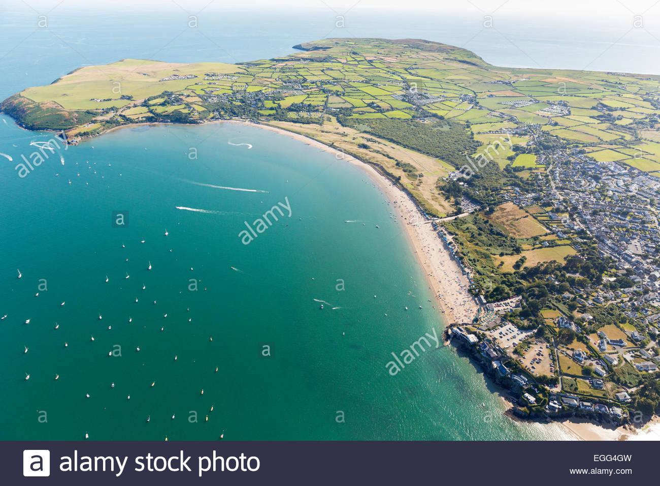 Aerial View Of Abersoch Beach Llyn Peninsular North