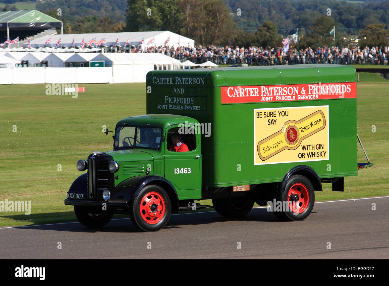 1946 Austin parcel van / Goodwood Revival / Goodwood / UK - Stock Image