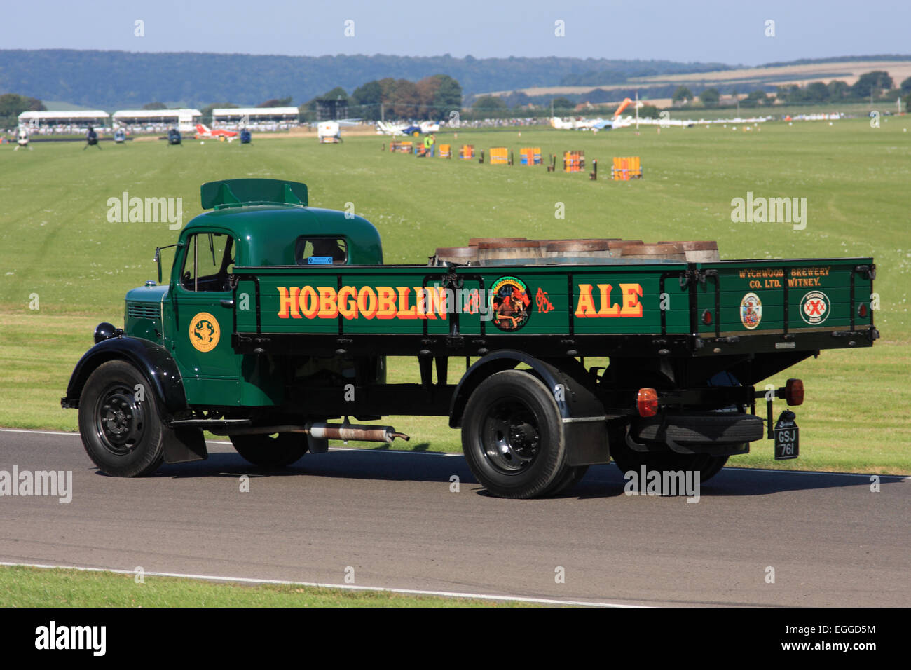 Parade of vintage vehicles / Goodwood Revival / Goodwood / UK - Stock Image