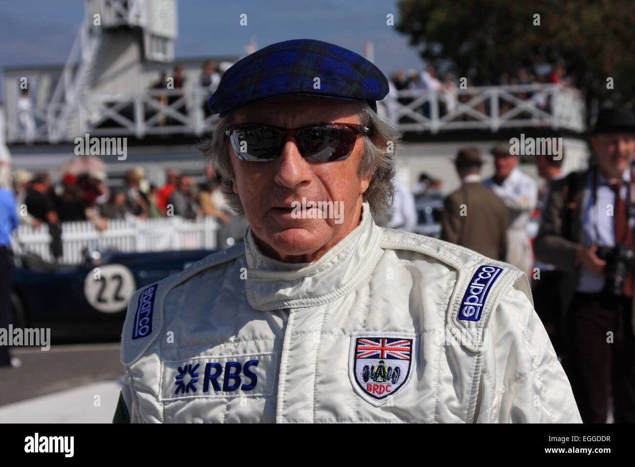 Three-times F1 World Champion Sir Jackie Stewart, legendary driver & tireless advocate for motorsport safety - Stock Image