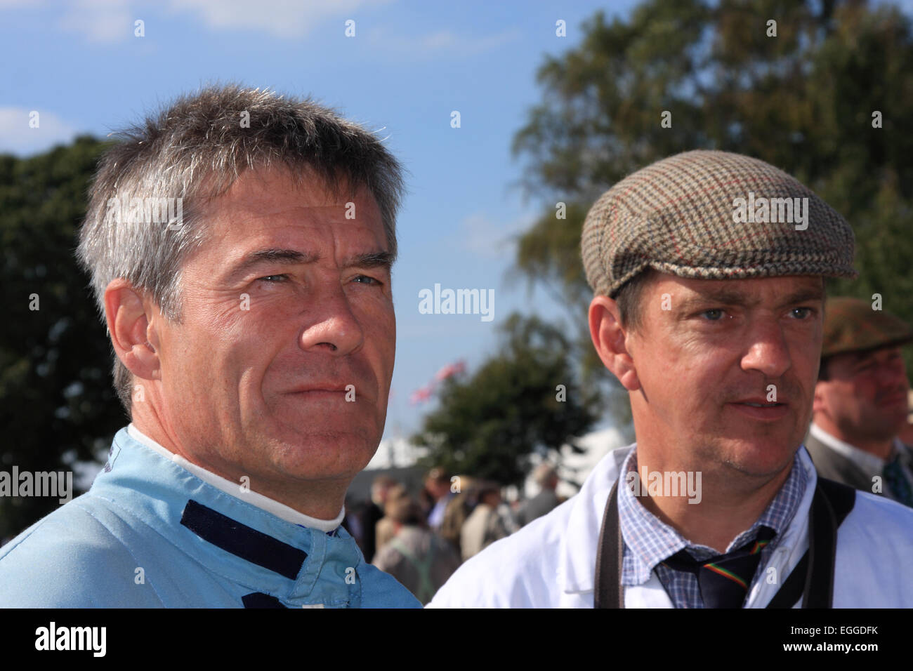 Tiff Needell (left), TV presenter and former racing driver / Goodwood Revival / Goodwood / UK - Stock Image