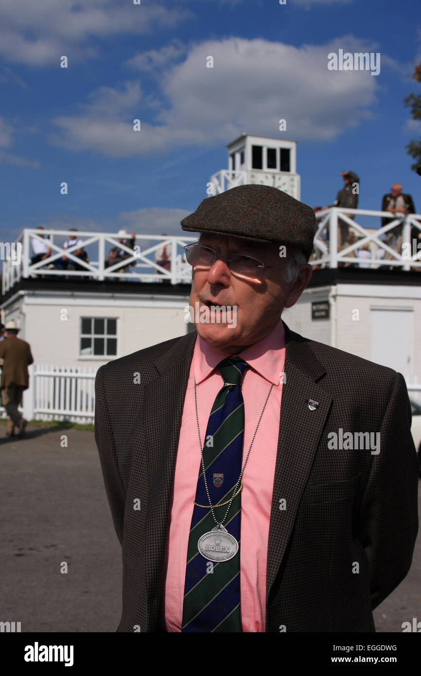 World famous motorsport commentator Murray Walker / Goodwood Revival / Goodwood / West Sussex / UK - Stock Image