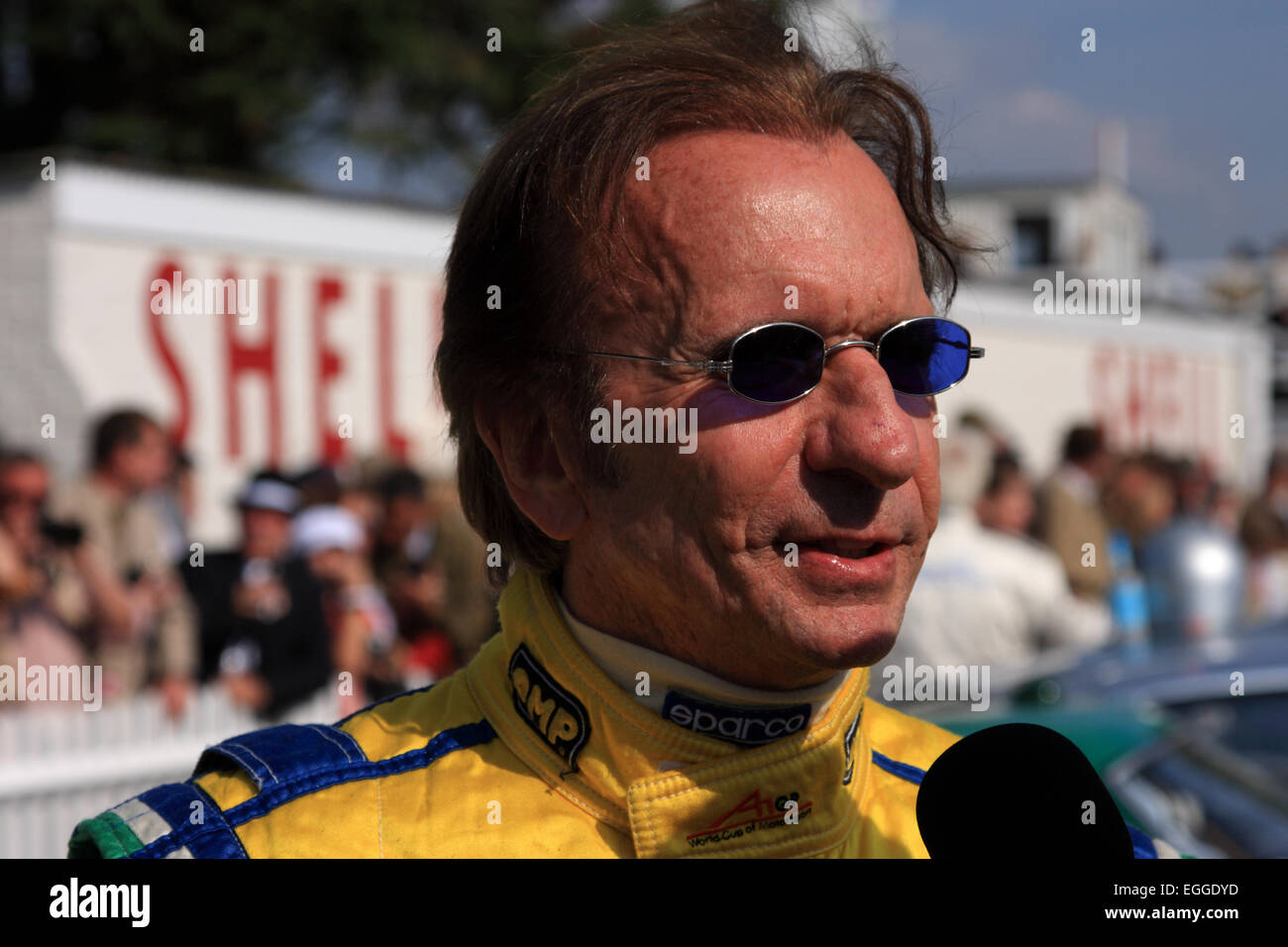 Brazilian two-times F1 World Champion Emerson Fittipaldi enjoying the autumn sunshine / Goodwood Revival / Goodwood - Stock Image