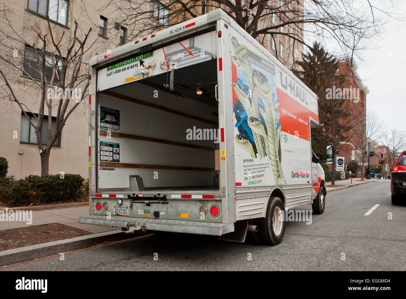 U-Haul moving truck - USA - Stock Image