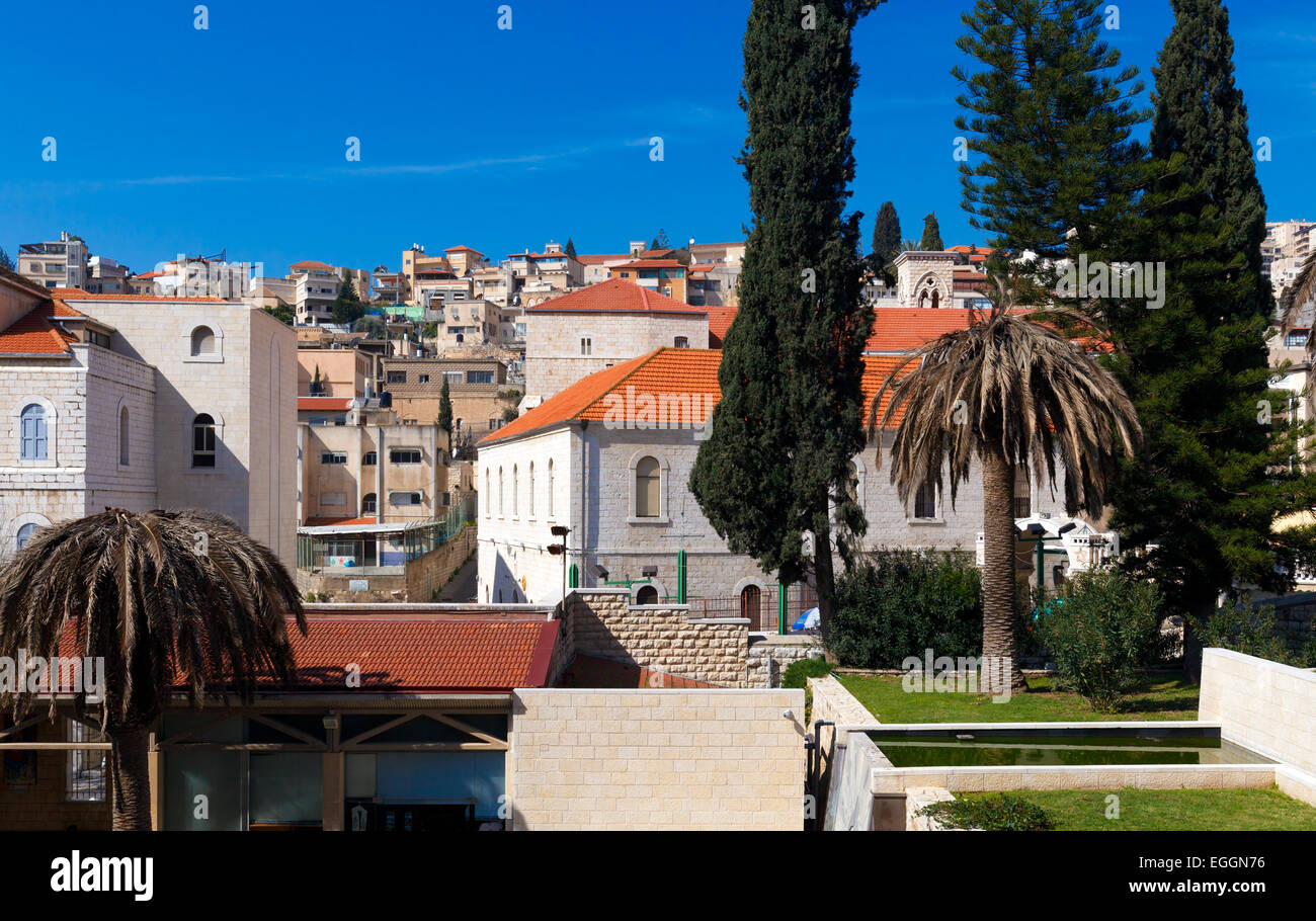 Roofs of Old City in Nazareth, Israel - Stock Image