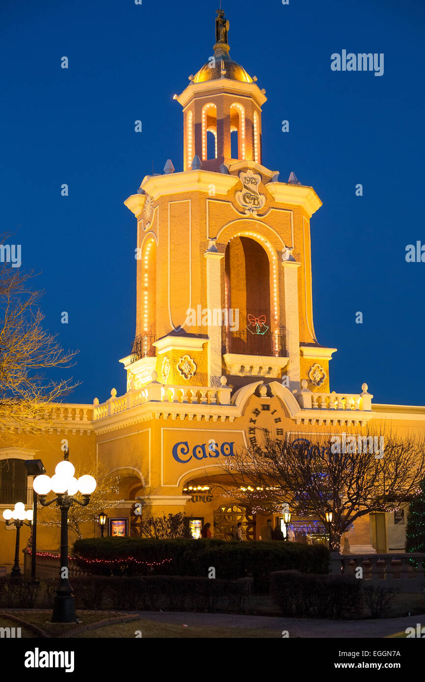 Denver, Colorado - Casa Bonita, a Mexican restaurant which is remembered for its entertainment rather than its food. - Stock Image
