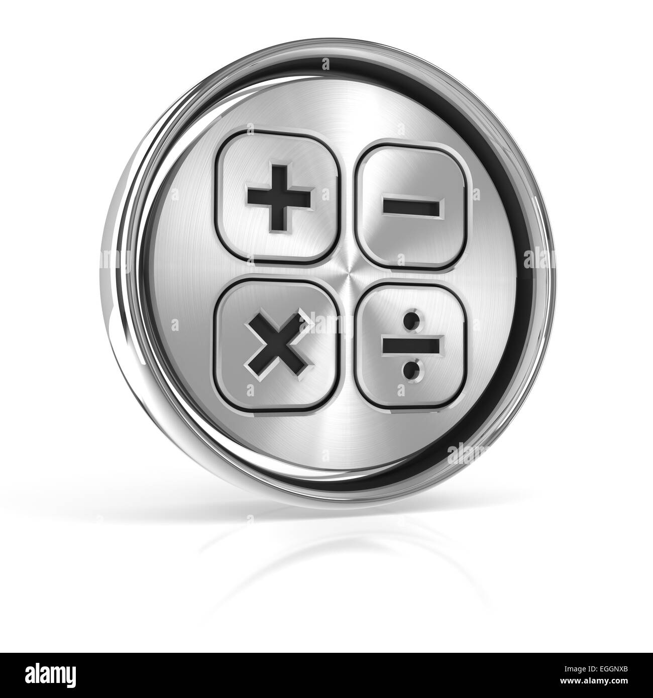 Button with calculation sign - Stock Image
