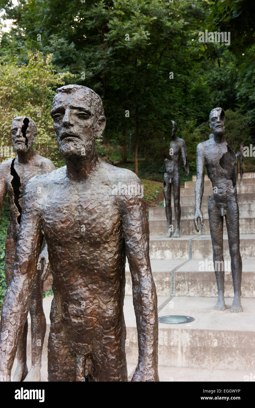 Memorial to the Victims of Communism by Olbram Zoubek. - Stock Image
