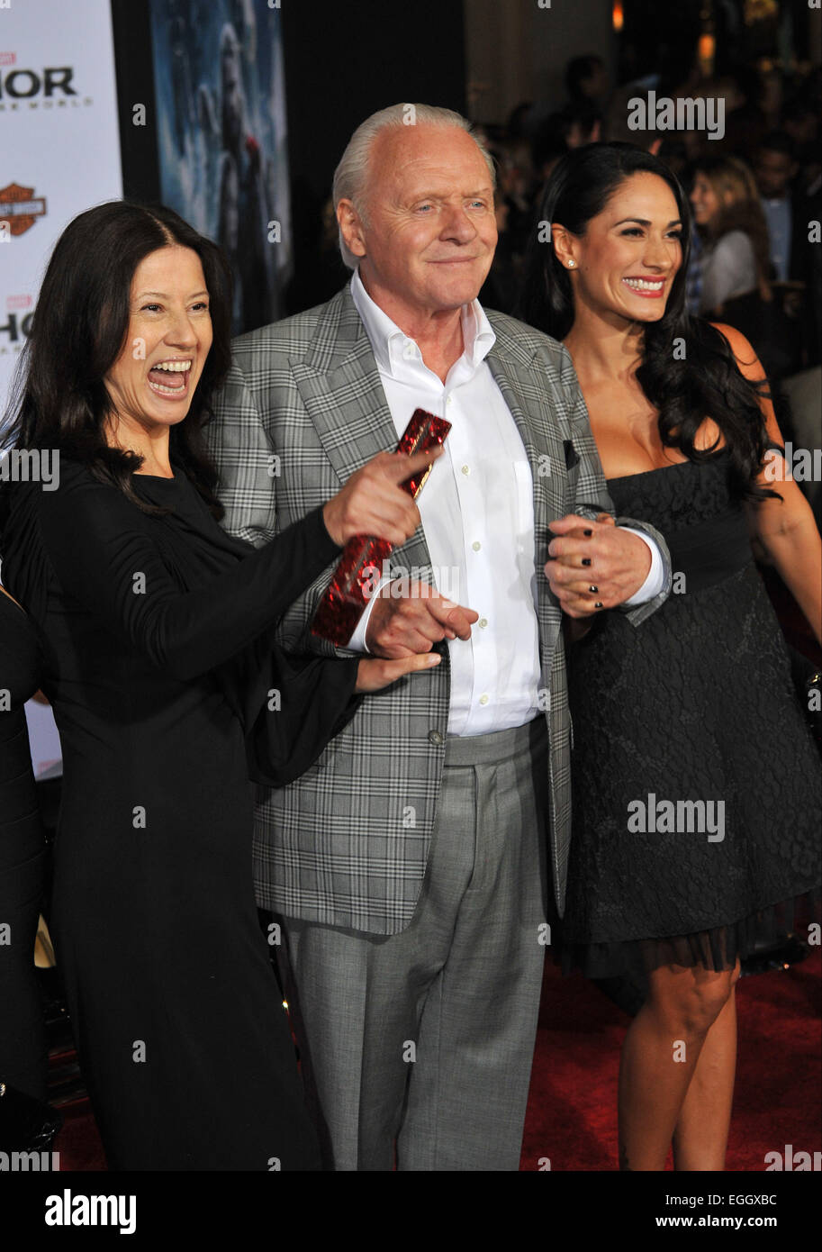 Actor Anthony Hopkins Wife Stella Stock Photos & Actor ...