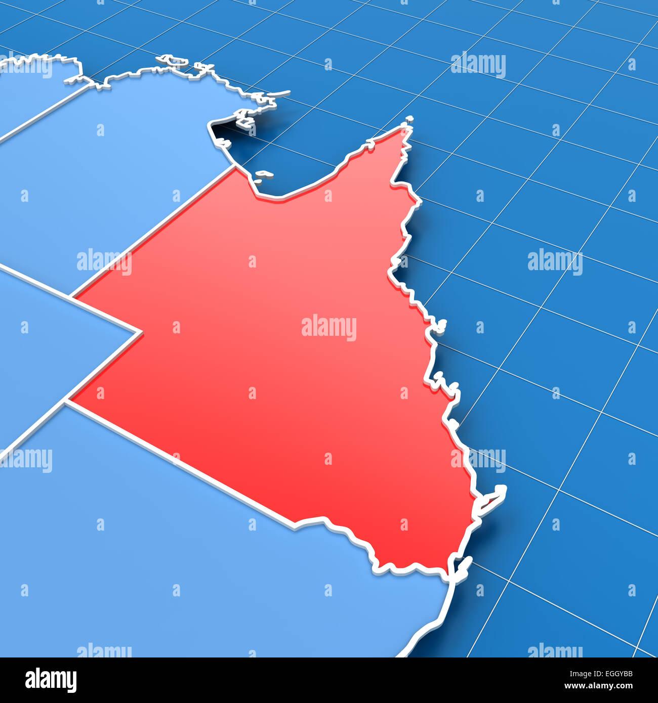 Queensland In Australia Map.Queensland Australia Map Stock Photos Queensland Australia Map