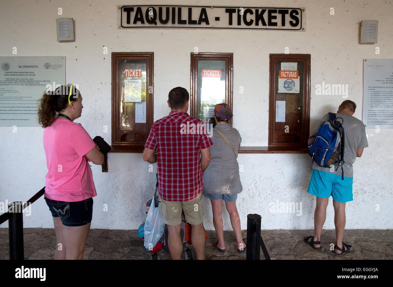 Entrance, Tulum, Quintana Roo, Mexico - Stock Image