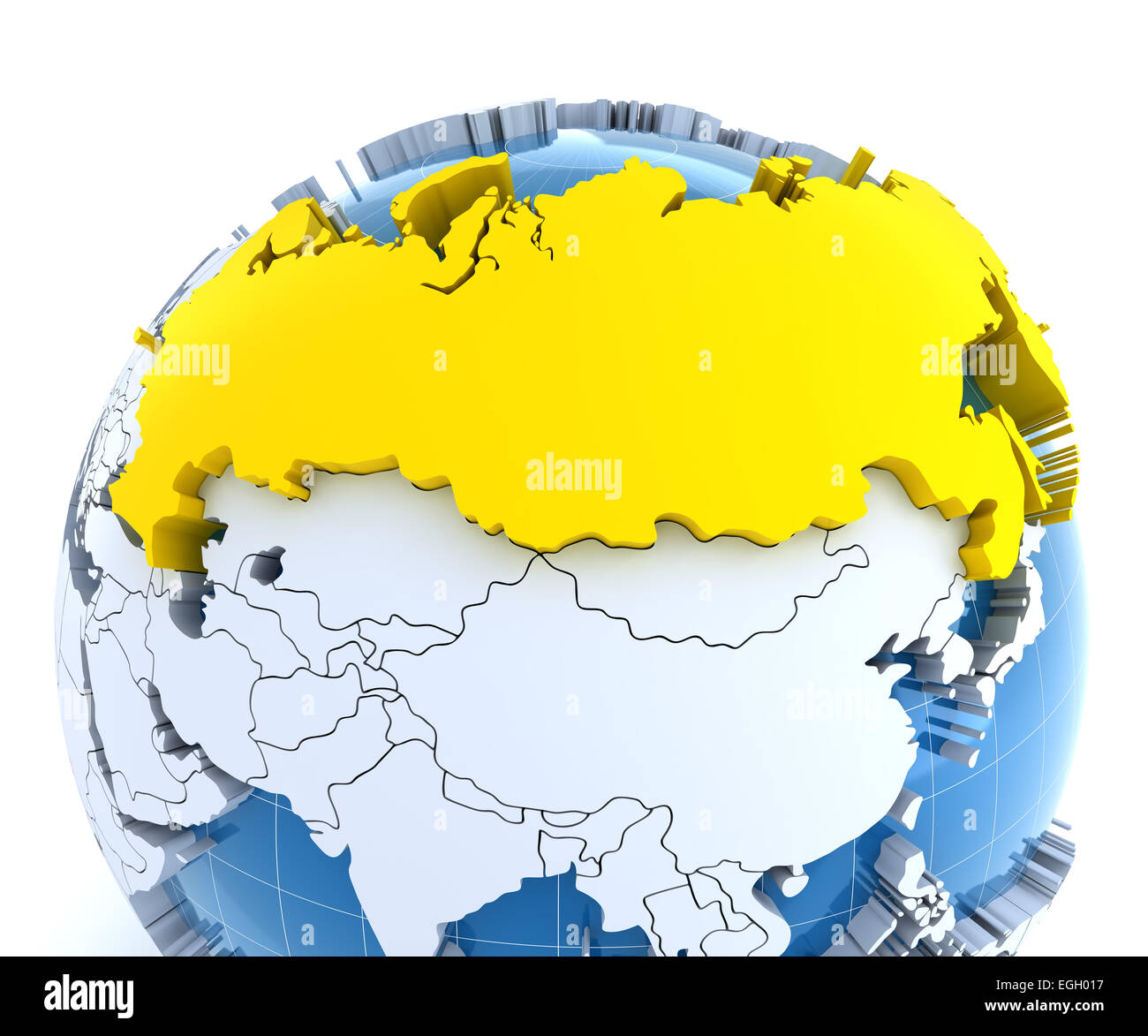 Russia Map Globe Stock Photos & Russia Map Globe Stock Images - Alamy