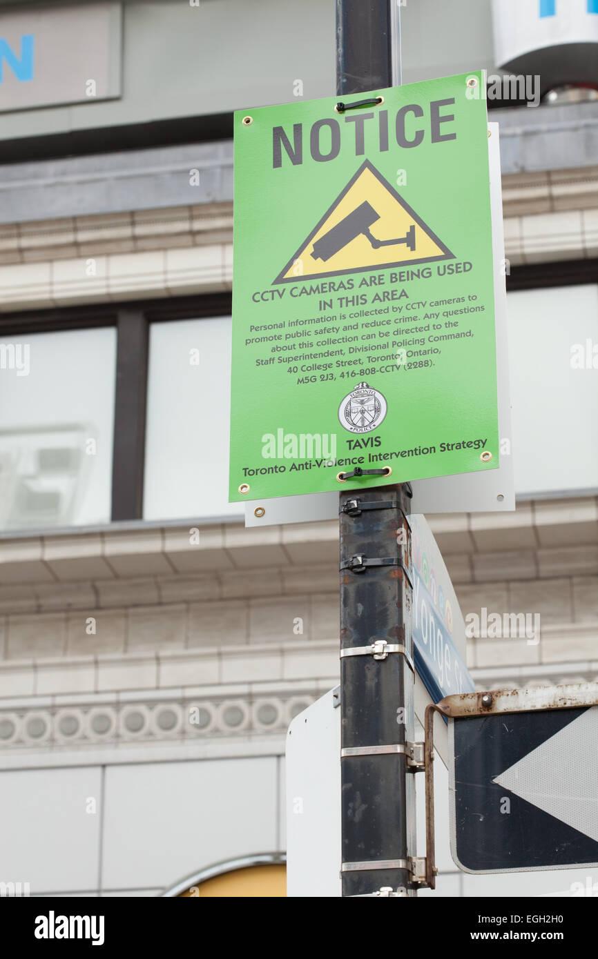 CCTV Notice in Toronto
