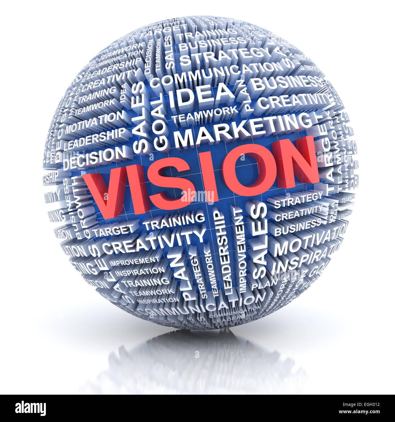 Business vision concept, 3d render - Stock Image
