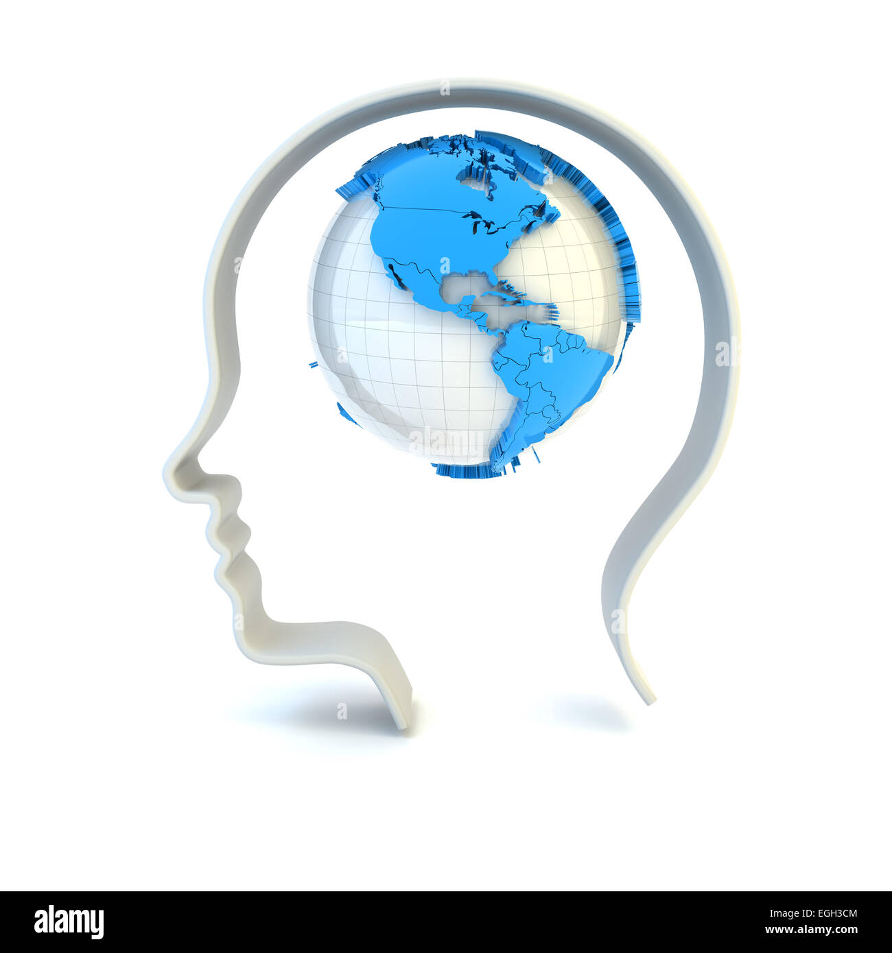 Global mind - Stock Image