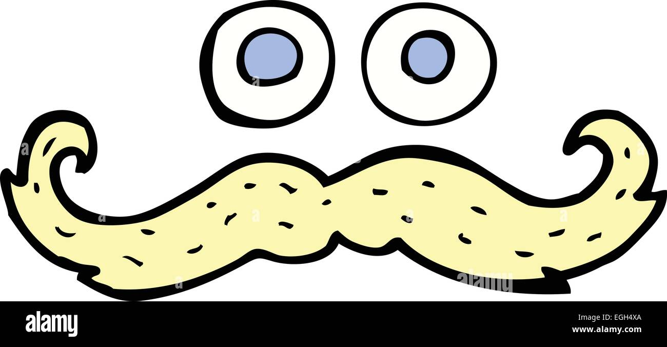 Cartoon Eyes And Mustache Symbol Stock Vector Art Illustration