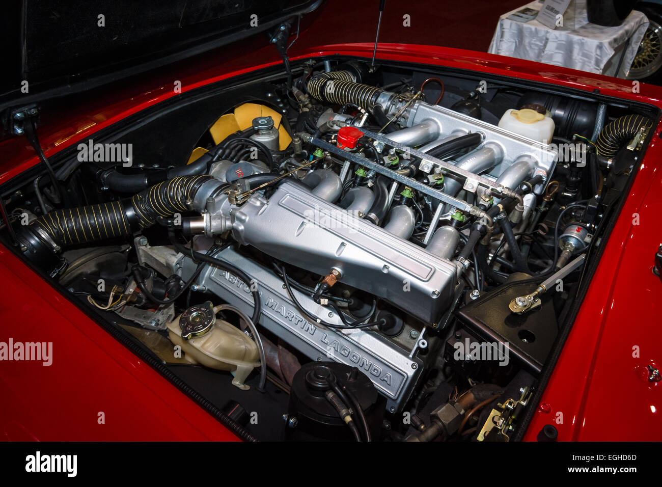 Engine Of The Car Aston Martin V8 Vantage Stock Photo 79059525 Alamy