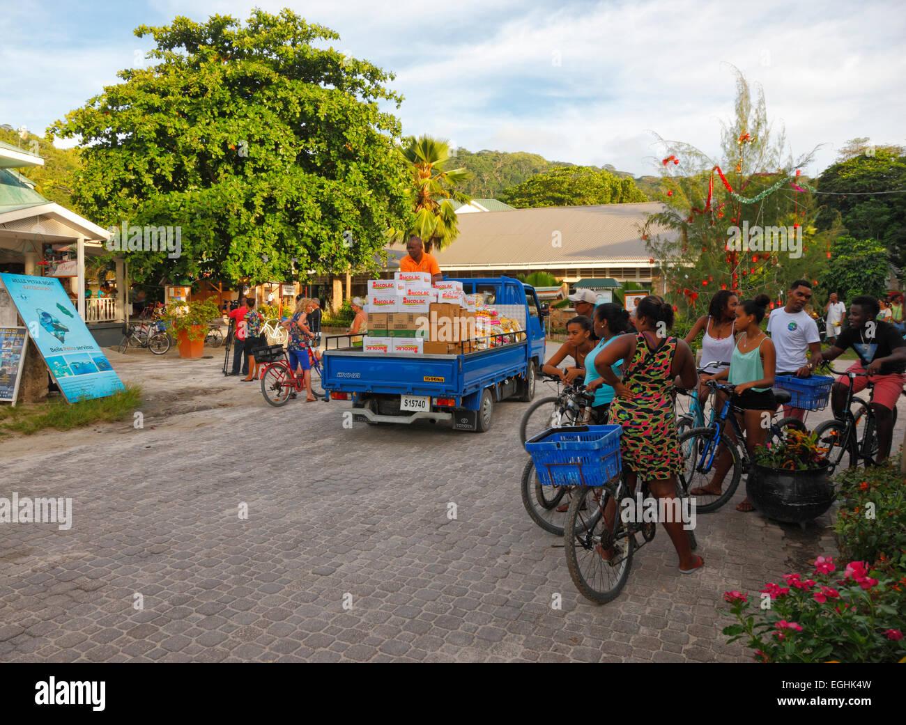 Seychelles people, La Digue - Stock Image